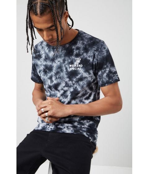 Imbracaminte Barbati Forever21 Zak Brand Tie-Dye Tee BLACK