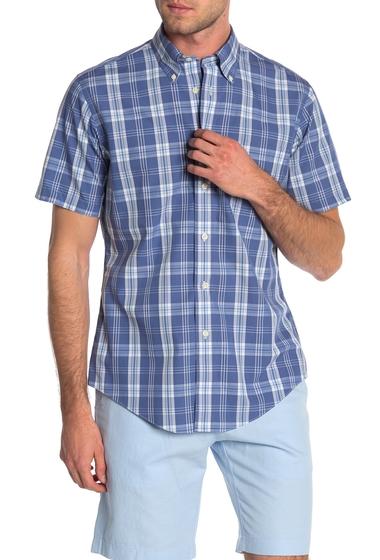 Imbracaminte Barbati Brooks Brothers Regent Plaid Short Sleeve Shirt NAVY