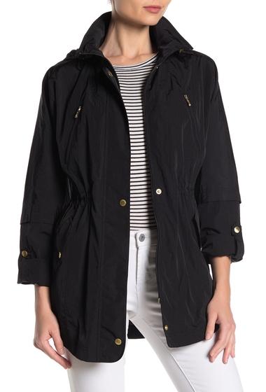 Imbracaminte Femei Cole Haan Crinkle Hooded Rain Jacket BLACK