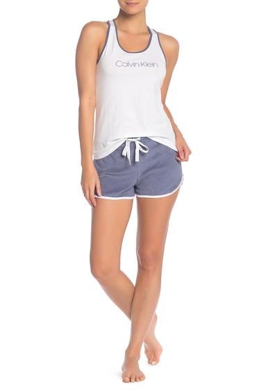 Imbracaminte Femei Calvin Klein Racerback Tank Top Solid Shorts 2-Piece Pajama Set DXS SCORCHED DE