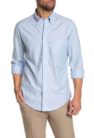 Imbracaminte Barbati Brooks Brothers Dobby Long Sleeve Regular Fit Shirt LT BLUE