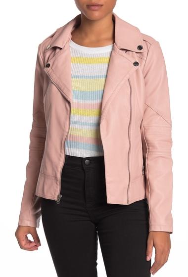 Imbracaminte Femei GUESS Faux Leather Jacket DUSTY PINK