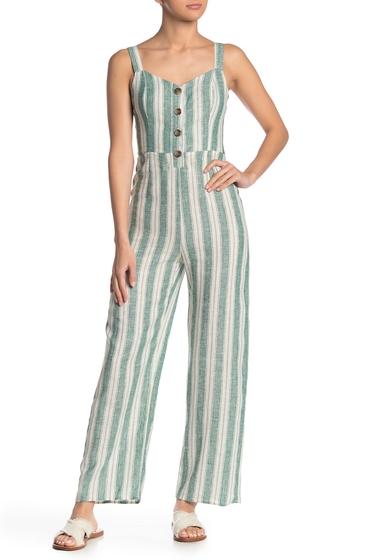 Imbracaminte Femei Romeo Juliet Couture Button Detail Linen Blend Jumpsuit KGRMU
