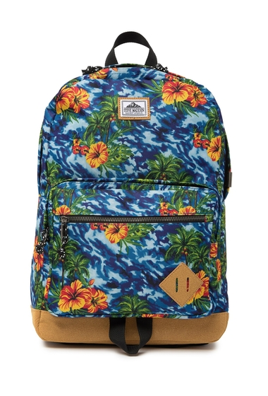 Genti Barbati Steve Madden Floral Print Backpack BLUE FLORAL