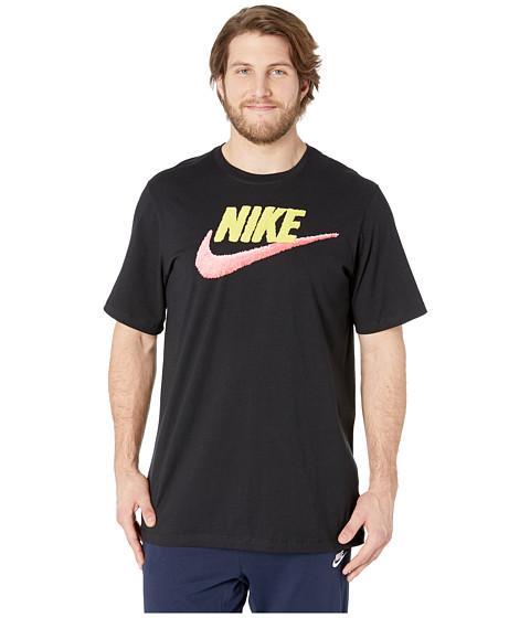 Imbracaminte Barbati Nike Big amp Tall NSW Brand Mark Tee BlackYellow PulsePink Gaze