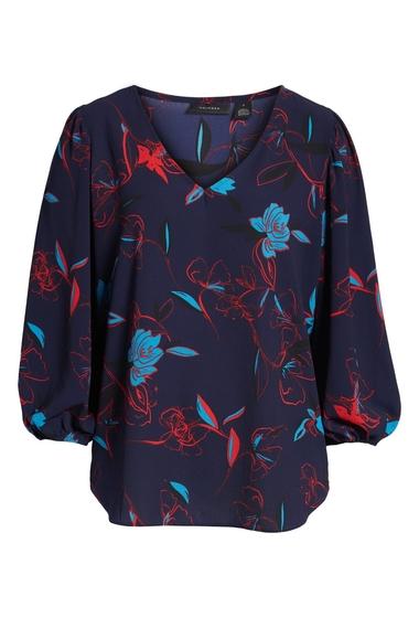 Imbracaminte Femei Halogen Blouson Sleeve Top Regular Petite NAVY P CARLY FLR
