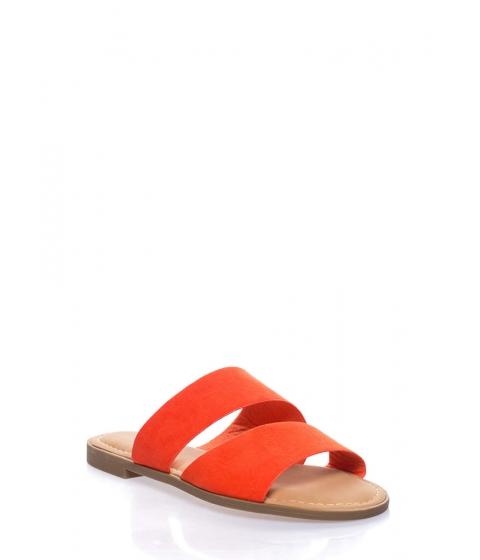 Incaltaminte Femei CheapChic Beach Baby Faux Suede Slide Sandals Orange