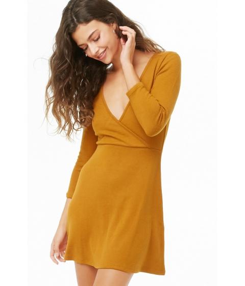 Imbracaminte Femei Forever21 Surplice Fit Flare Dress MARIGOLD