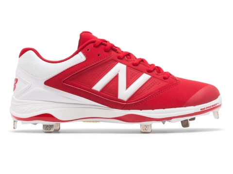 Incaltaminte Femei New Balance Low Cut 4040v1 Metal Cleat Red with White