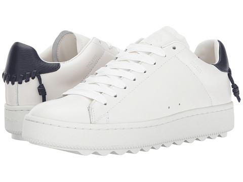 Incaltaminte Femei COACH C101 WhiteMidnight Navy Leather