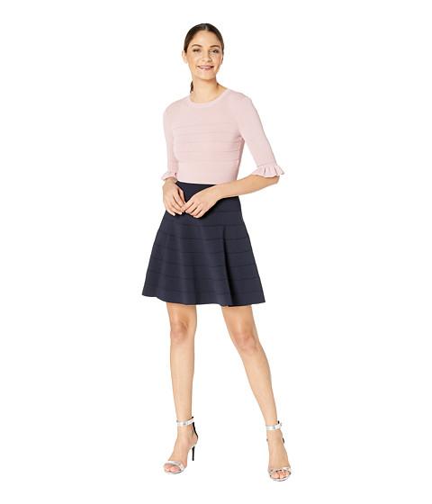 Imbracaminte Femei Ted Baker Dyana Wonderland Frill Knitted Dress Dusty Pink