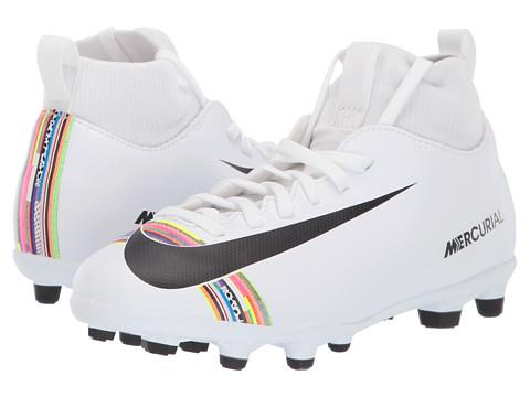 Incaltaminte Fete Nike Mercurial Superfly 6 Club CR7 Soccer (Little KidBig Kid) WhiteBlackWhite