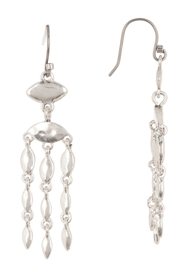 Bijuterii Femei Lucky Brand Marquis Chain Drop Earrings SILVER