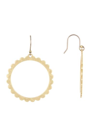 Bijuterii Femei Lucky Brand Scalloped Edge Drop Ring Earrings GOLD