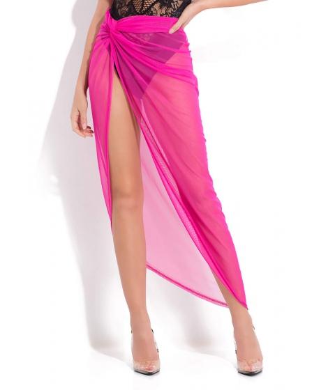 Imbracaminte Femei CheapChic Sarong Song Draped Mesh Maxi Skirt Neonpink