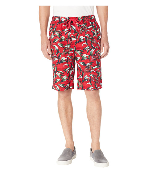 Imbracaminte Barbati Tommy Bahama Island Washed Cotton Woven Jam Shorts Big Leaves Red