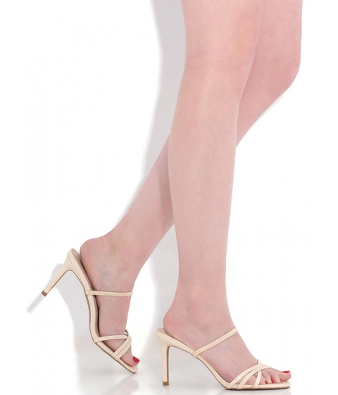 Incaltaminte Femei CheapChic All You Need Strappy Slip-on Heels Nude