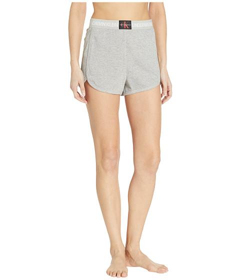 Imbracaminte Femei Calvin Klein Monogram Mesh Sleep Shorts Grey Heather