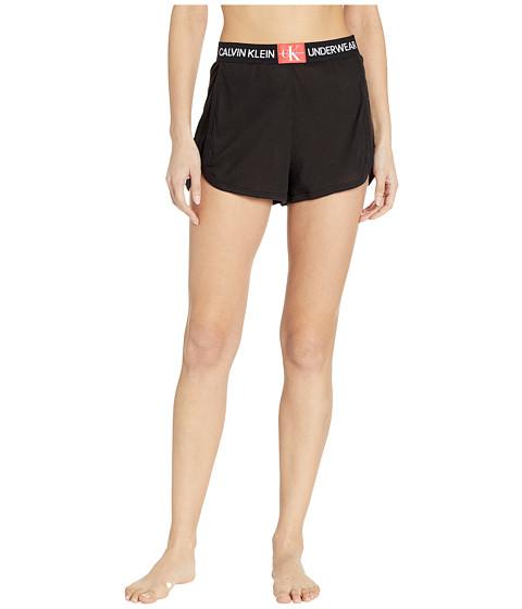 Imbracaminte Femei Calvin Klein Monogram Mesh Sleep Shorts Black