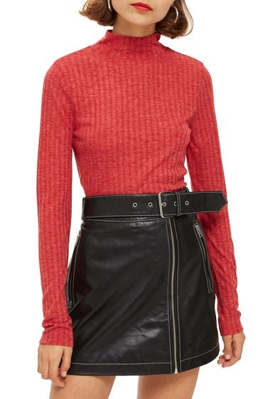 Imbracaminte Femei TOPSHOP Funnel Neck Shirt RED