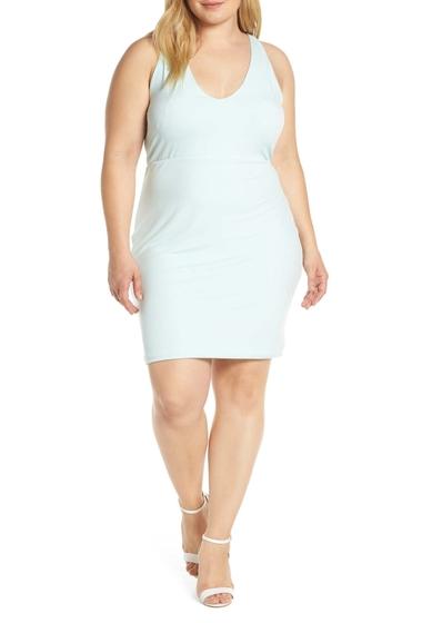Imbracaminte Femei Leith Mini Body-Con Dress Plus Size TEAL FAIR