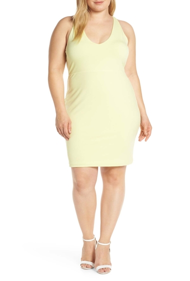 Imbracaminte Femei Leith Mini Body-Con Dress Plus Size YELLOW ELFIN