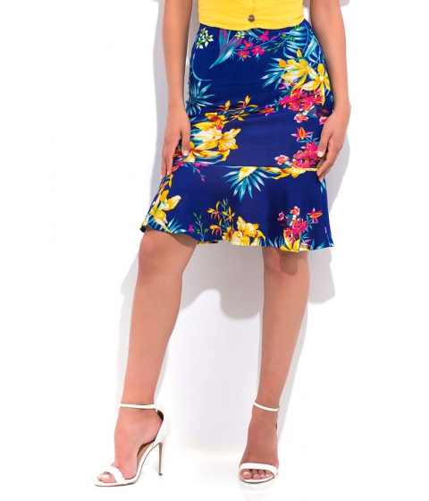 Imbracaminte Femei CheapChic Spring Forward Floral Peplum Skirt Royal