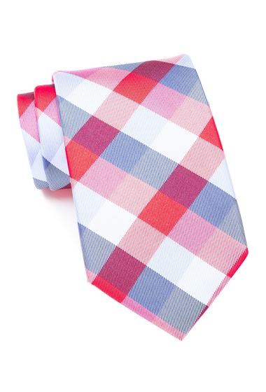 Accesorii Barbati Tommy Hilfiger Buffalo Tartan Silk Tie REDBLUE