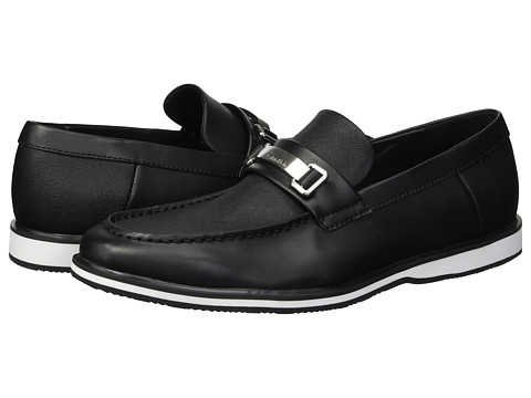 Incaltaminte Barbati Calvin Klein Wheeler Black Brushed LeatherSaffiano