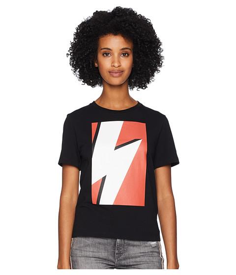 Imbracaminte Femei NEIL BARRETT Pop Art Thunderbolt T-Shirt BlackRed