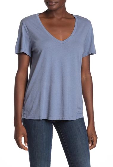 Imbracaminte Femei Michael Stars Solid V-Neck T-Shirt STREAM