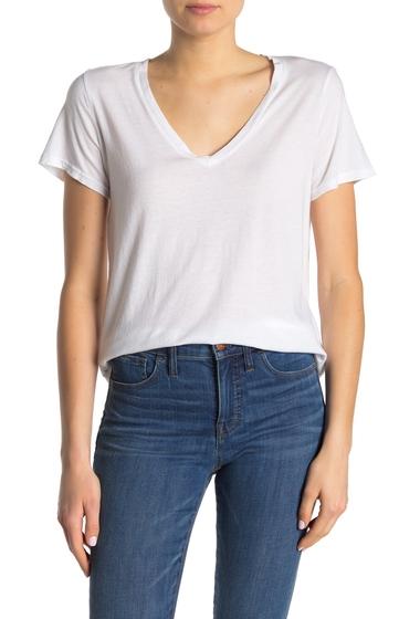 Imbracaminte Femei Michael Stars Solid V-Neck T-Shirt WHITE