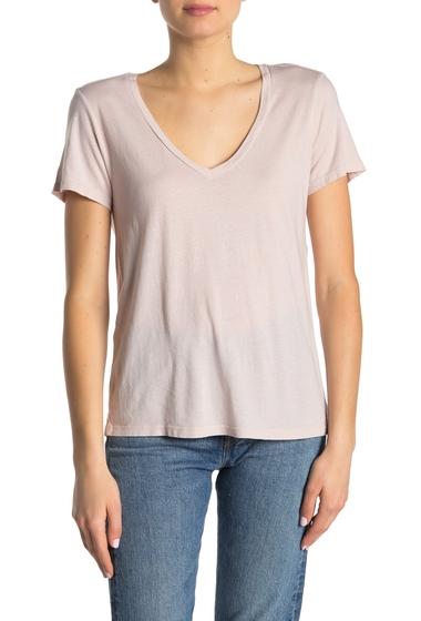 Imbracaminte Femei Michael Stars Solid V-Neck T-Shirt WHISPER