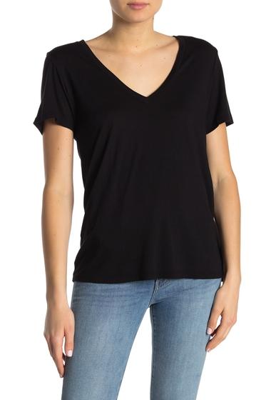 Imbracaminte Femei Michael Stars Solid V-Neck T-Shirt BLACK