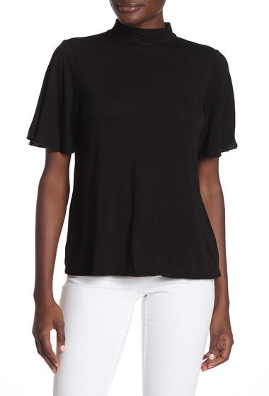 Imbracaminte Femei Michael Stars Mock Neck Cutout Top BLACK