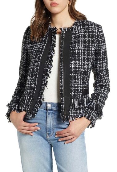 Imbracaminte Femei Halogen Tweed Jacket BLACK- WHITE TWEED