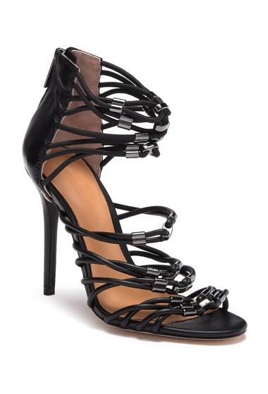 Incaltaminte Femei Halston Heritage Ania Leather High Heel BLACK LEATHER