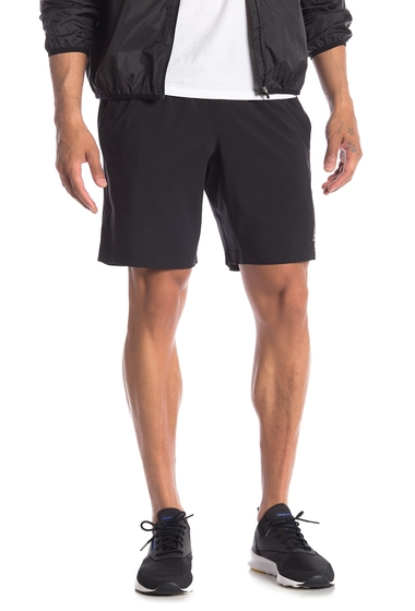 Imbracaminte Barbati Reebok Solid Drawstring Athletic Shorts BLACK