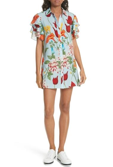 Imbracaminte Femei Alice Olivia Jem Floral Flutter Sleeve Dress GRNWCH-ICY