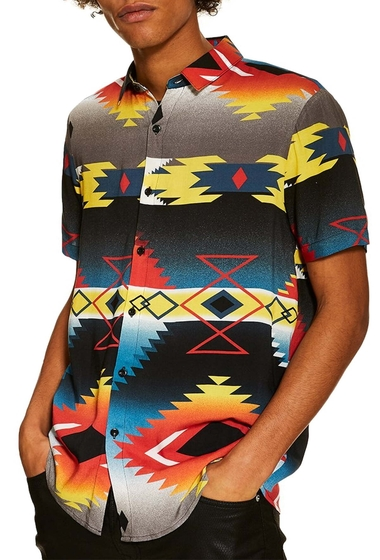 Imbracaminte Barbati TOPMAN Hyke Print Shirt BLACK MULTI