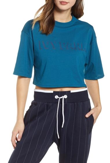 Imbracaminte Femei Ivy Park Shadow Logo Crop Tee MOROCCAN BLUE