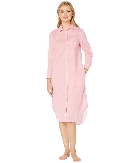 Imbracaminte Femei LAUREN Ralph Lauren Long Sleeve Ballet Sleepshirt Coral Stripe