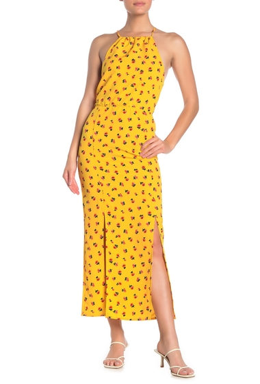 Imbracaminte Femei Velvet Torch Floral Halter Neck Maxi Dress YELLOW DITSY