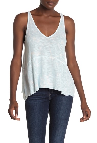 Imbracaminte Femei Michael Stars V-Neck Trapeze Tank Top SEA GLASS