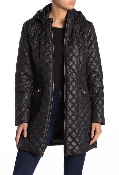 Imbracaminte Femei Via Spiga Quilted Hooded Zip Jacket BLACK