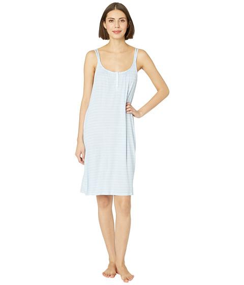 Imbracaminte Femei LAUREN Ralph Lauren Knit Double Strap Button Nightgown Blue Stripe