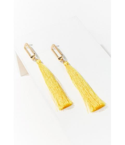 Bijuterii Femei Forever21 Cutout Tassel Duster Earrings GOLDYELLOW