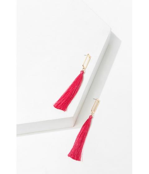 Bijuterii Femei Forever21 Cutout Tassel Duster Earrings GOLDPINK