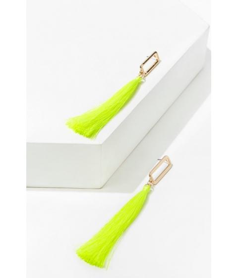 Bijuterii Femei Forever21 Cutout Tassel Duster Earrings GOLDNEON YELLOW