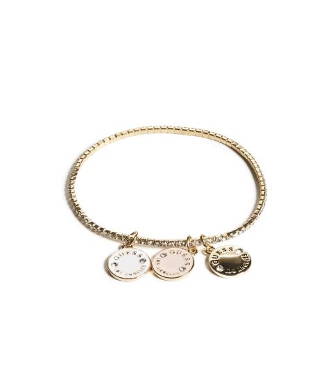 Bijuterii Femei GUESS Gold-Tone Logo Charm Stretch Bracelet silvergold
